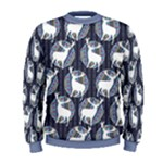 Geometric Deer Retro Pattern Men s Sweatshirt