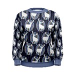 Geometric Deer Retro Pattern Women s Sweatshirt