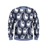 Geometric Deer Retro Pattern Kids  Sweatshirt