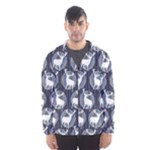 Geometric Deer Retro Pattern Hooded Wind Breaker (Men)