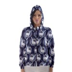 Geometric Deer Retro Pattern Hooded Wind Breaker (Women)