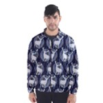 Geometric Deer Retro Pattern Wind Breaker (Men)