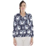 Geometric Deer Retro Pattern Wind Breaker (Women)