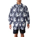 Geometric Deer Retro Pattern Wind Breaker (Kids)