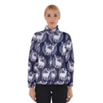 Geometric Deer Retro Pattern Winter Jacket