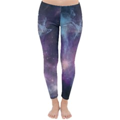 Blue Galaxy Winter Leggings