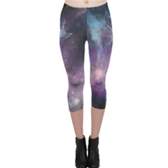 Blue Galaxy Capri Leggings  by DanaeStudio