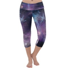 Blue Galaxy Capri Yoga Leggings by DanaeStudio