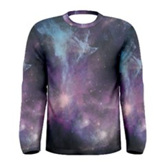 Blue Galaxy Men s Long Sleeve Tee by DanaeStudio