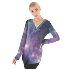 Blue Galaxy Women s Tie Up Tee
