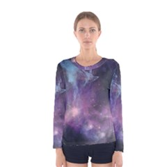 Blue Galaxy Women s Long Sleeve Tee by DanaeStudio