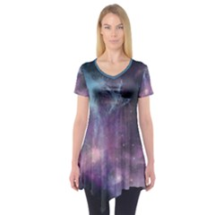 Blue Galaxy Short Sleeve Tunic