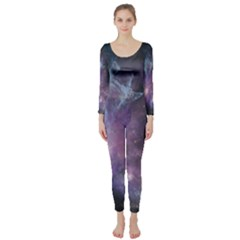 Blue Galaxy Long Sleeve Catsuit by DanaeStudio