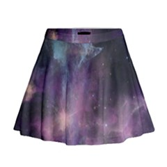 Blue Galaxy Mini Flare Skirt by DanaeStudio