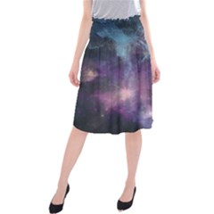 Blue Galaxy Midi Beach Skirt