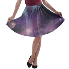 Blue Galaxy A Line Skater Skirt