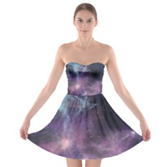 Blue Galaxy Strapless Bra Top Dress