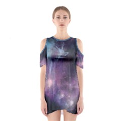 Blue Galaxy Women s Cutout Shoulder One Piece