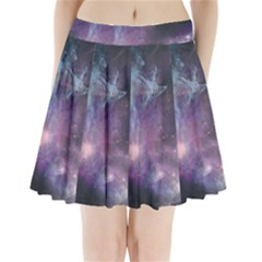Blue Galaxy Pleated Mini Skirt