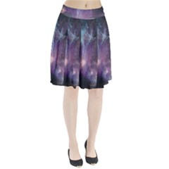 Blue Galaxy Pleated Skirt by DanaeStudio