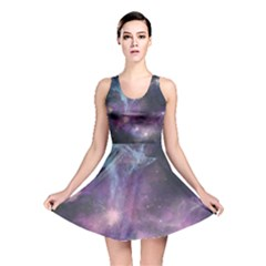 Blue Galaxy Reversible Skater Dress by DanaeStudio