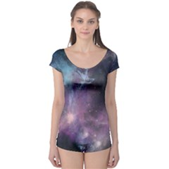 Blue Galaxy Boyleg Leotard  by DanaeStudio