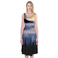 Borobudur Temple Midi Sleeveless Dress by Contest2483978