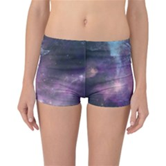 Blue Galaxy Reversible Boyleg Bikini Bottoms by DanaeStudio