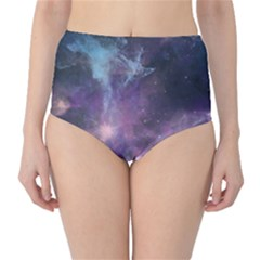 Blue Galaxy High Waist Bikini Bottoms