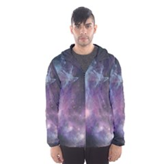 Blue Galaxy Hooded Wind Breaker (men) by DanaeStudio