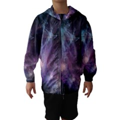 Blue Galaxy Hooded Wind Breaker (kids) by DanaeStudio