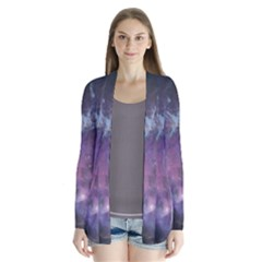 Blue Galaxy Drape Collar Cardigan