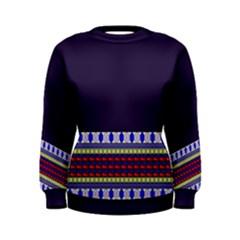 Purple Retro Geometric Pattern Women s Sweatshirt by DanaeStudio