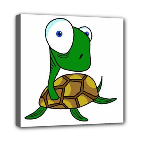 Turtle Mini Canvas 8  X 8  by Valentinaart