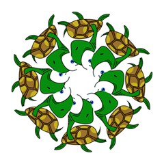Turtle Hook Handle Umbrellas (medium) by Valentinaart