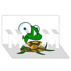 Turtle Mom 3d Greeting Card (8x4) by Valentinaart