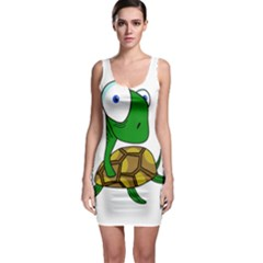Turtle Sleeveless Bodycon Dress by Valentinaart