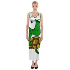 Turtle Fitted Maxi Dress by Valentinaart