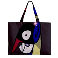 Monster Zipper Mini Tote Bag by Valentinaart