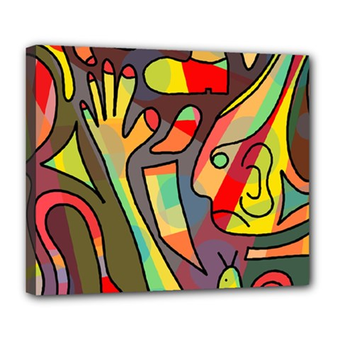 Colorful Dream Deluxe Canvas 24  X 20   by Valentinaart