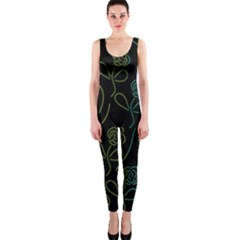 Floral Pattern Onepiece Catsuit by Valentinaart