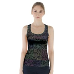 Colorful Pattern Racer Back Sports Top by Valentinaart