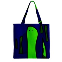 Green Snakes Zipper Grocery Tote Bag by Valentinaart