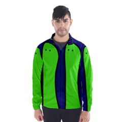 Green Snakes Wind Breaker (men) by Valentinaart