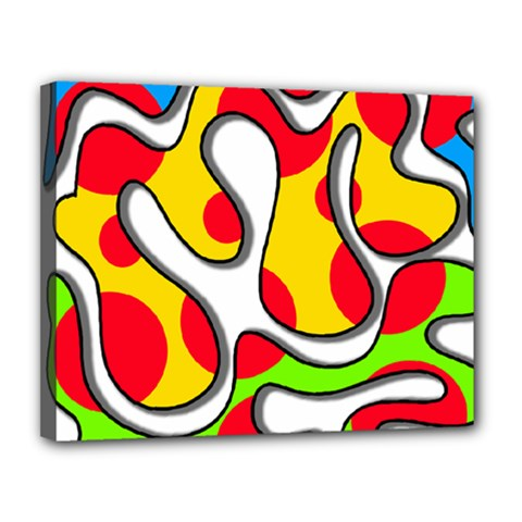 Colorful Graffiti Canvas 14  X 11  by Valentinaart