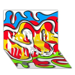 Colorful graffiti YOU ARE INVITED 3D Greeting Card (7x5)