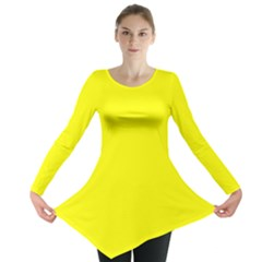 Yellow colour Long Sleeve Tunic  by artpics