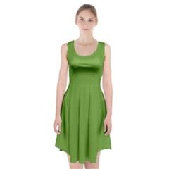 Sushi Green Colour Racerback Midi Dress by artpics