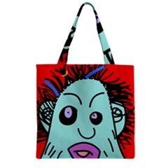 Caveman Zipper Grocery Tote Bag by Valentinaart