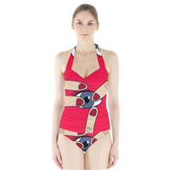 Poke In The Eye Halter Swimsuit